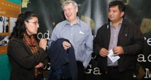El biógrafo de Gabriel García Márquez, el escritor británico Gerald Martin, quien produce un documental sobre la vida de Gabo, visitó la ciudad de Zipaquirá.
