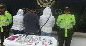 ladrones capturados en chia